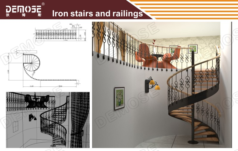 Wood Nosing Stairs With Glass Railing Design On Aliexpress Com