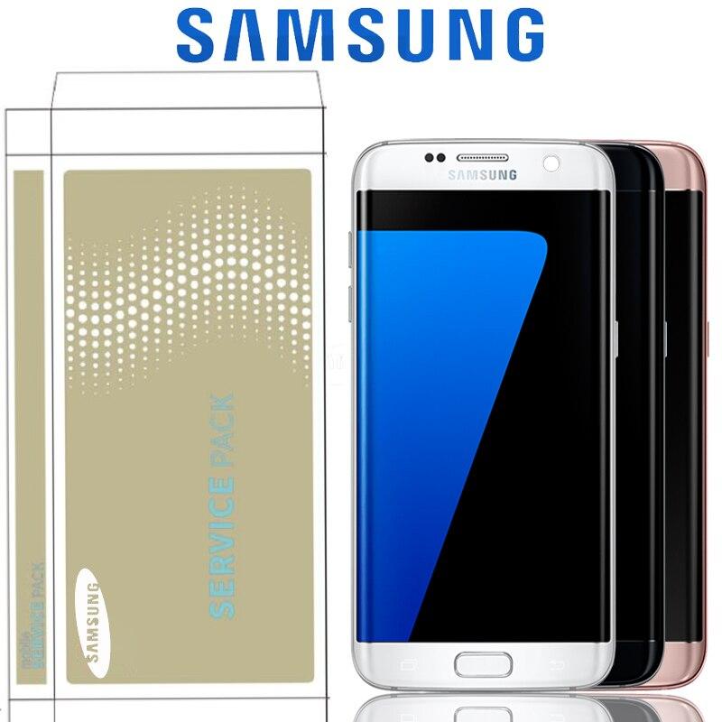 """La quemadura de sombra de 5,5 """"para reemplazo para SAMSUNG Galaxy S7 borde G935 G935F G935FD SM G935F LCD con la pantalla táctil pantalla con marco-in Teléfono Móvil LCD pantallas from Teléfonos celulares y telecomunicaciones on AliExpress - 11.11_Double 11_Singles' Day 1"""