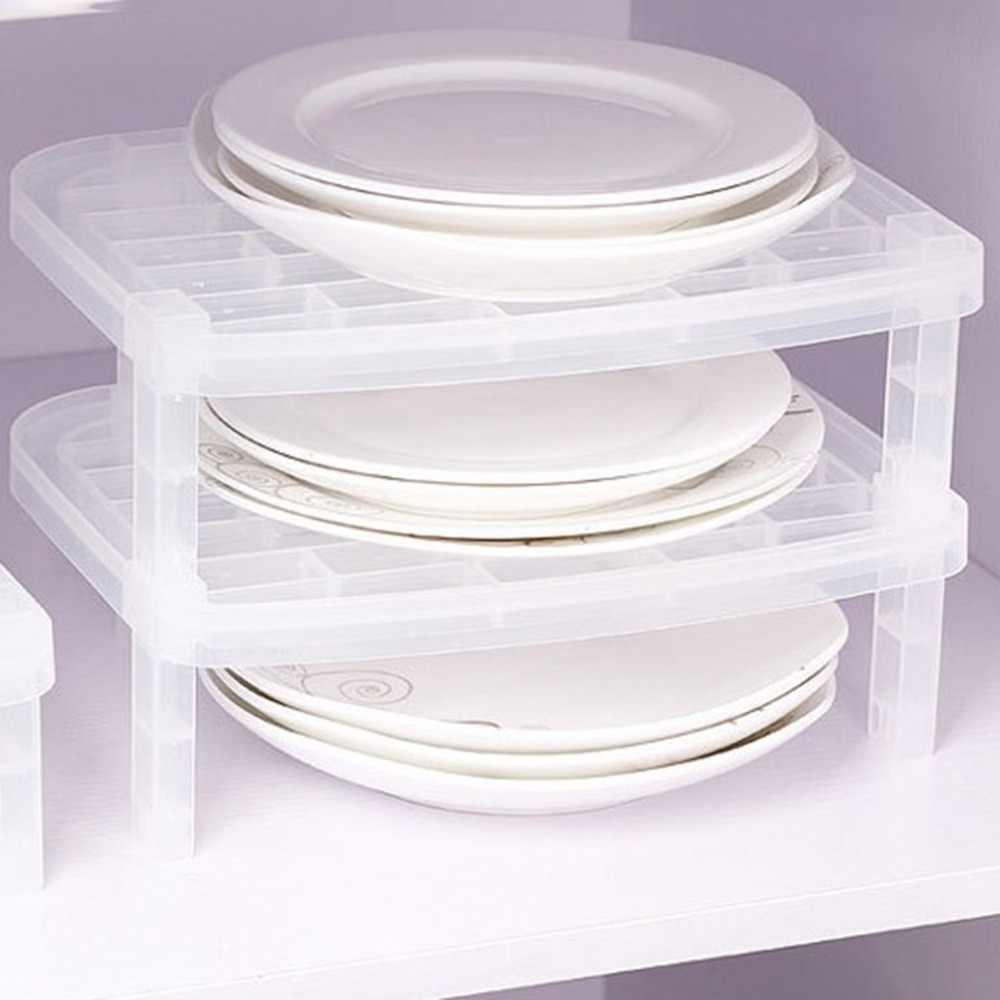 1 طبقات طبق لوحة التخزين المنظم شفافة مضاد للجراثيم الرأسي طبق رف الإبداعية رف مطبخ الفضاء إنقاذ مريحة