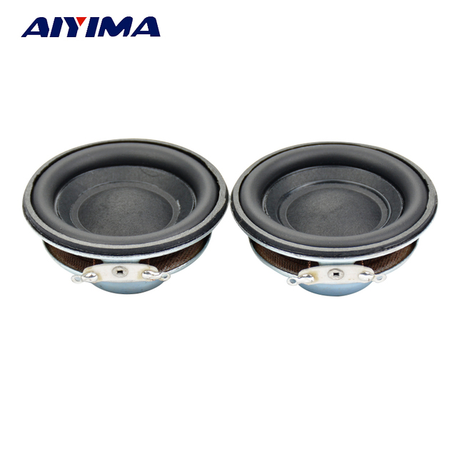 AIYIMA 2 piezas Mini altavoz de Audio 50 MM 4Ohm 5 W Subwoofer de Audio Multimedia altavoz portátil altavoz