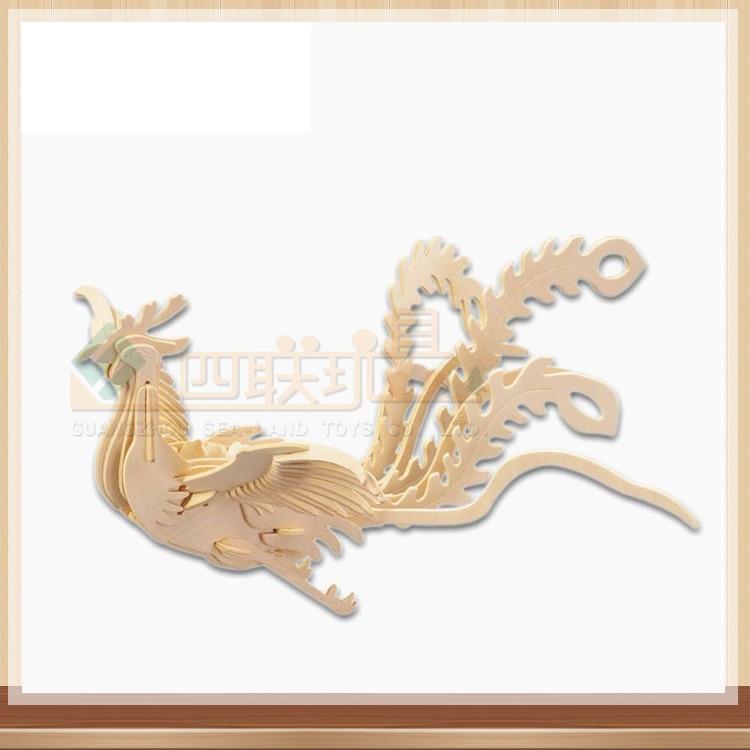 3D Деревянный Феникс Пазл деревянный Бог птица пазл игрушка IQ Развивающие деревянные игрушки DIY ручной работы Пазлы Детский подарок