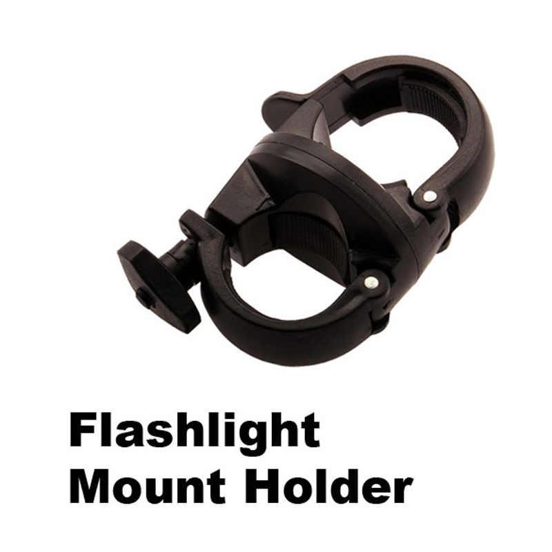 360 Rotation Bike Halter Clamp Taschenlampe Clip Radfahren MTB LED Licht Montieren Käfig Für 27-29mm Durchmesser Taschenlampe stehen Halter Schwarz