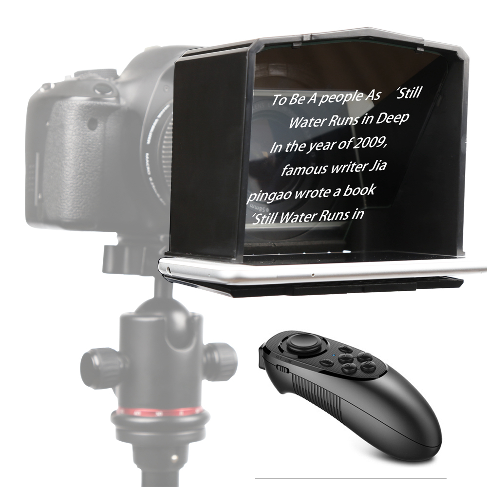 Bestview T1 Smartphone Teleprompter for Canon Nikon Sony Camera Photo Studio DSLR for Youtube Interview Teleprompter
