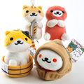 4 pcs/set Neko Atsume plush toys Japanese popular cats' backyard animals cute plush pendants doll 11cm for gift free shipping