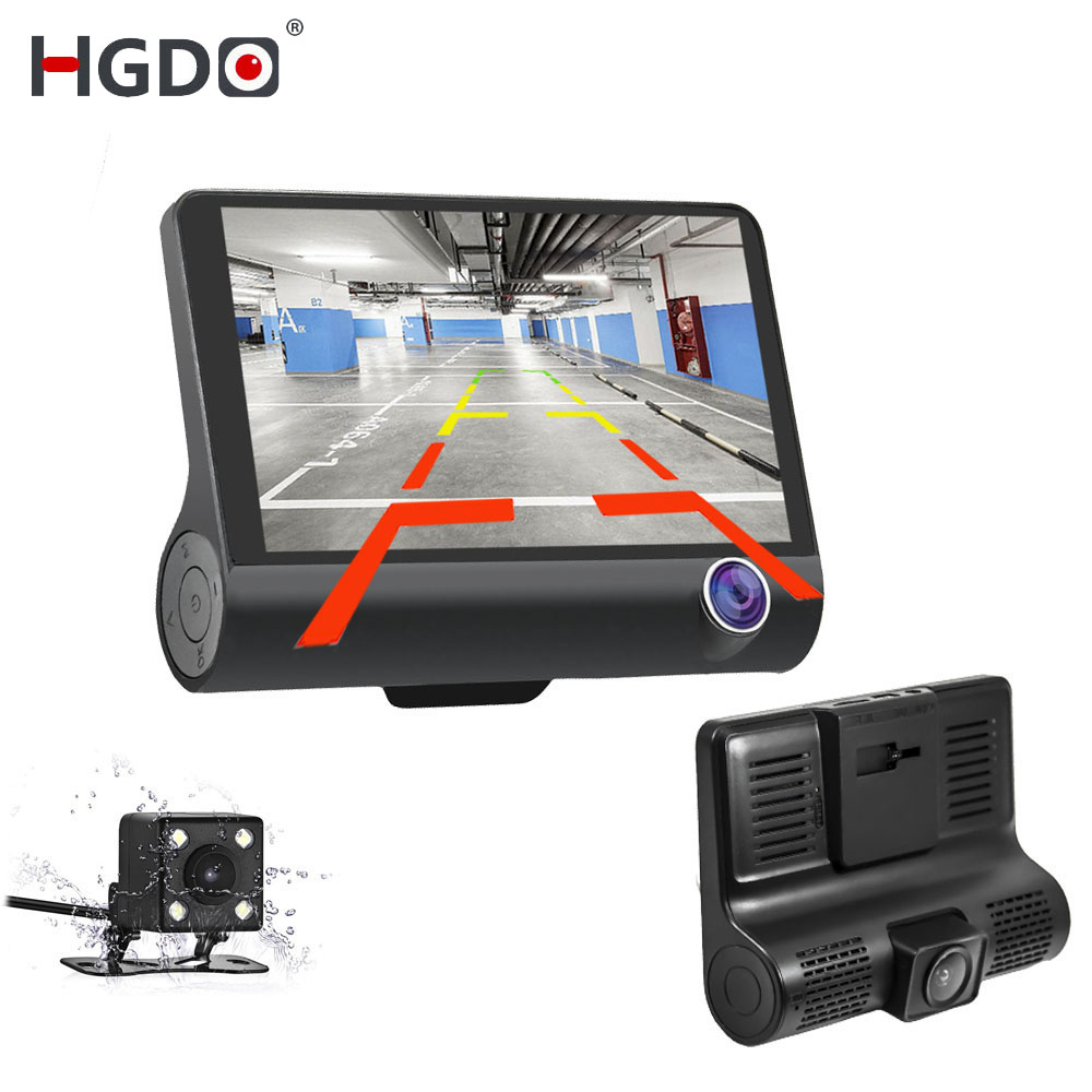 HGDO Registrator Video-Recorder Dash-Cam Three-Way Car-Dvr Wide-Angle 170-Degree Full-Hd