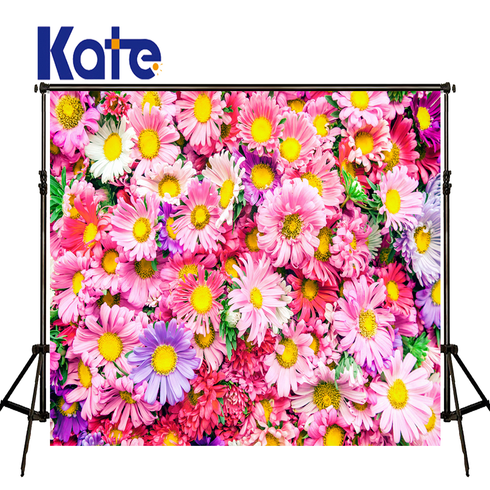 KATE 5x7ft Photo Background Bellis Perennis Wall Backdrops Flores Wedding Background Spring Scenery Backgrounds for Photo Studio kate photo background scenery