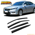 For 13-15 Honda Accord Sedan Full Set Mugen Style Smoked JDM Stick On Window Visors USA Domestic Free Shipping