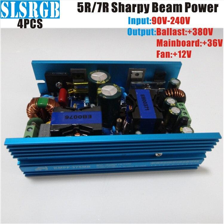 4pcs/lot DC380V DC12V DC36V 200W 5R/230W 7R Power supply sharpy beam moving head disco light dj stage light 6pcs lot white color 132w sharpy osram 2r beam moving head dj lighting dmx 512 stage light for party