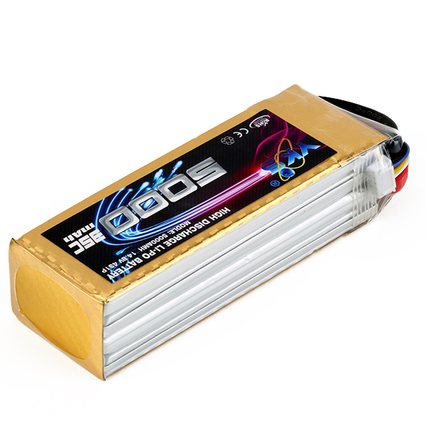 High Power Lipo Battery 14.8V 5000mah 4S 35C MAX 50C T Plug For DJI F550 S800 RC Airplane Helicopter Drone Parts