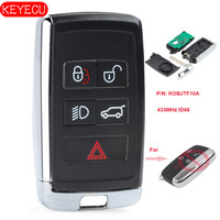 Keyecu Updated Smart Remote Car Key Fob 315MHz/433MHz ID46 for Land Rover LR2 LR4 2012 2015,Range Rover Evoque /Sport