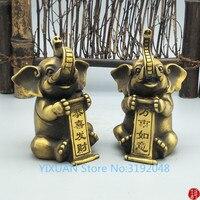 TNUKK A brass elephant for good luck in everything congratulation Wenwan home decoration decoration.