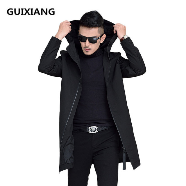 2017 Autumn And Winter Jacket Men S Casual Fashion Hooded Jackets Trench Coat Business Coats
