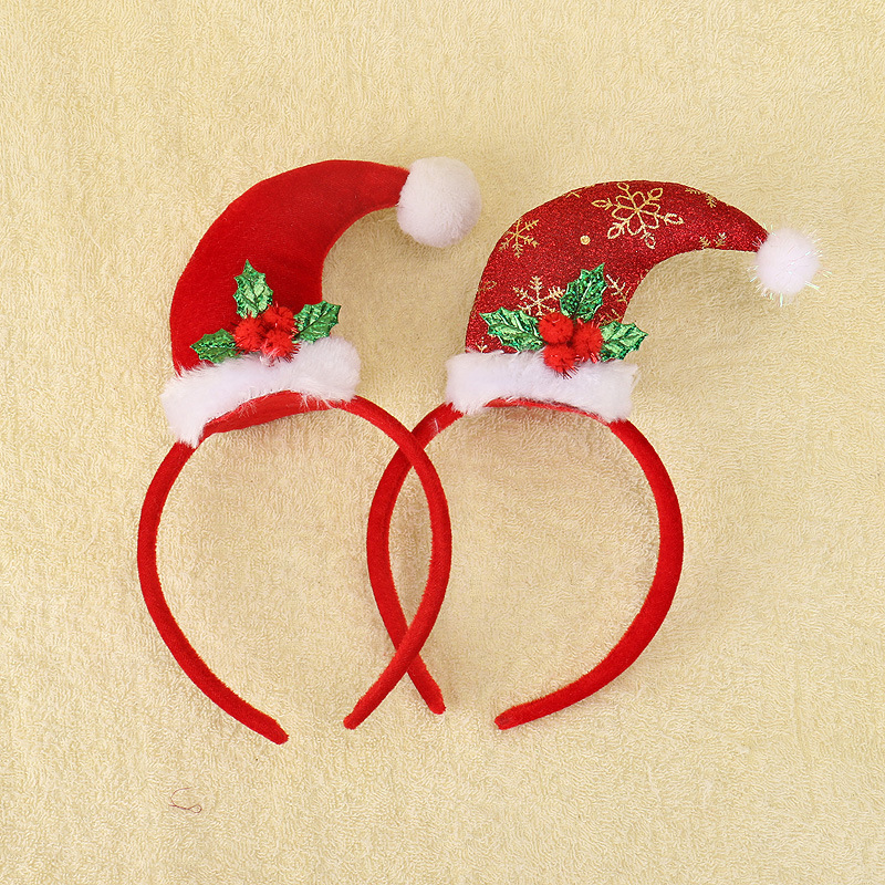 2017 Christmas hairband creative new santa claus hat hair band hoop hair accessories for girl kids headband Children Gift tiara