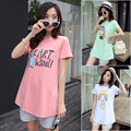 2016 summer style maternity tops t shirt funny baby printed pregnancy t shirts women blouse