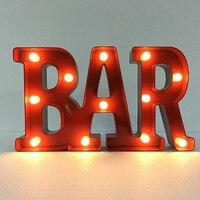 3D LED JOY BAR LOL Nightlight Romantic Marquee Sign Alphabet Night Light Letter Table Lamp For