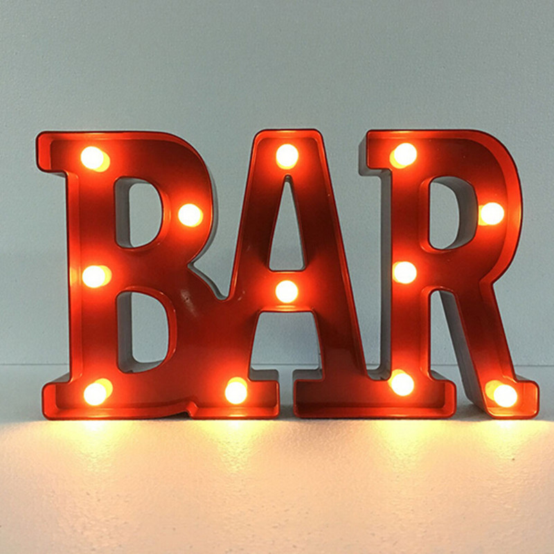 3D LED JOY BAR LOL Nightlight Romantic Marquee Sign Alphabet Night Light Letter Table Lamp For Christmas Decorations Home Decor black of toilet paper all copper toilet tissue box antique toilet paper basket american top hand cartons