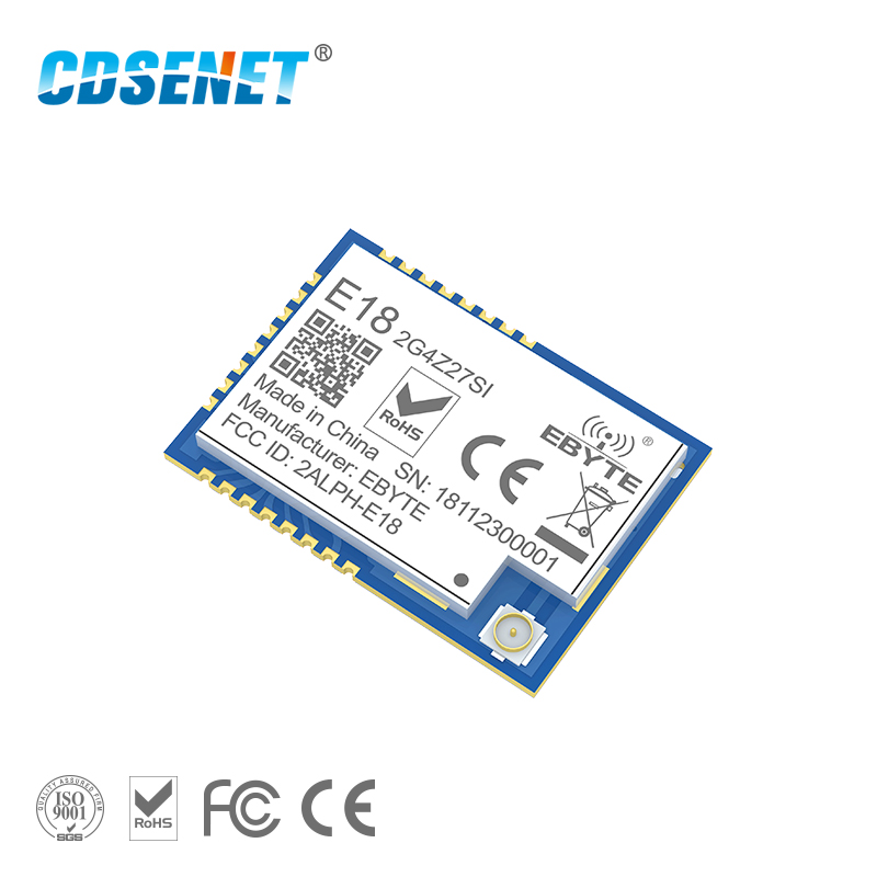Zigbee Mesh Network CC2530 27dBm PA CC2592 E18-2G4Z27SI SMD IPEX Connector IO Port 500mW Long Range Transmitter Receiver