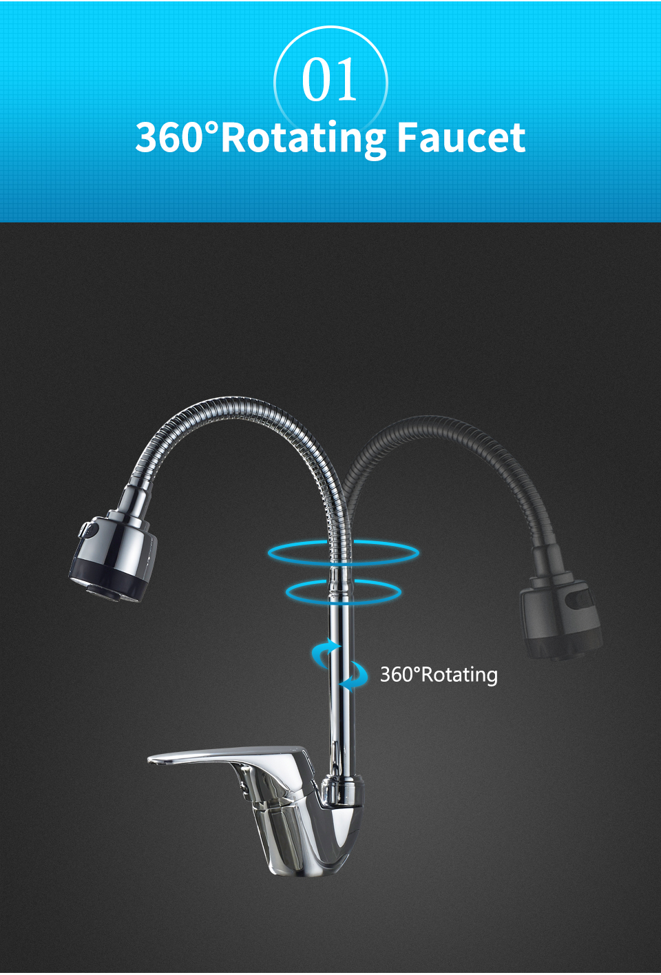 ᗜ Ljഃ1 Set kitchen Faucet Cold Single Hole Water Tap Kitchen Faucet ...