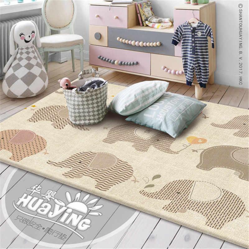 200x180x1 cm grube dziecko indeksowania zagraj Mat dwustronna antypoślizgowa pianka pad do grania dla dzieci niemowlę siłownia pokoju dywan dywan wodoodporny