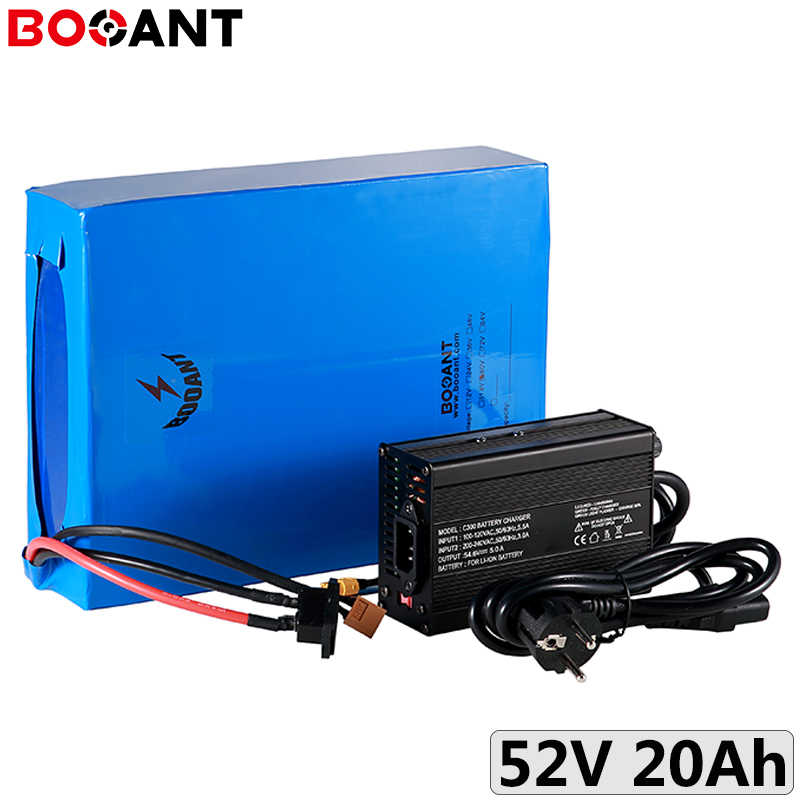 52V 20Ah 750W battery 18650 14S 51.8V 1000W electric bicycle lithium battery for 48V 500W motor EU US to taxes / customs