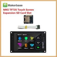 3d принтер дисплей МКС TFT35 V1.0 сенсорный экран + МКС Slot2 модуль расширения SD кард-ридер 3,5 дюймов ЖК-дисплей панель 3,5 »на тонкопленочных транзисторах на тонкоплёночных транзисторах