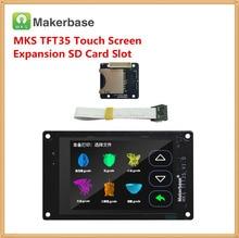 3d принтер дисплей МКС TFT35 V1.0 сенсорный экран + МКС Slot2 модуль расширения SD card reader 3,5 дюймов ЖК-дисплей панель 3,5 »TFT