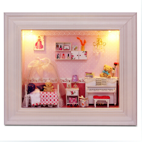 Diy doll house handmade real princess romantic wedding gift assembling finished product dollhouse toy