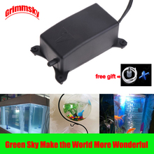 цена на 2W EU Plug Flow 1.2L/Min Fish Tank Oxygen Increasing High Performance Noiseless Small Ultra Silent Aquarium Oxygen Fish Air Pump