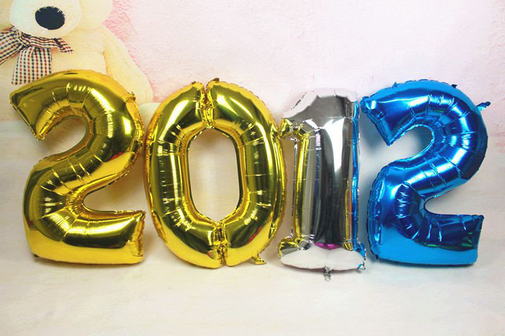 1pc 40 inch Aluminum film Number Balloons 0 9 Birthday Wedding Engagement Party Decor Globo Kids Ball Supplies in Ballons Accessories from Home Garden