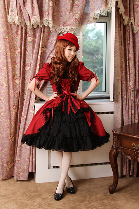 Lolita Dresses Gothic Princess Dress Lolita Costume Long-Sleeve Lace Vintage Style Cosplay Dress Free Shipping lolita princess roll split cosplay costume wig 65cm chip on synthetic cos hair free shipping