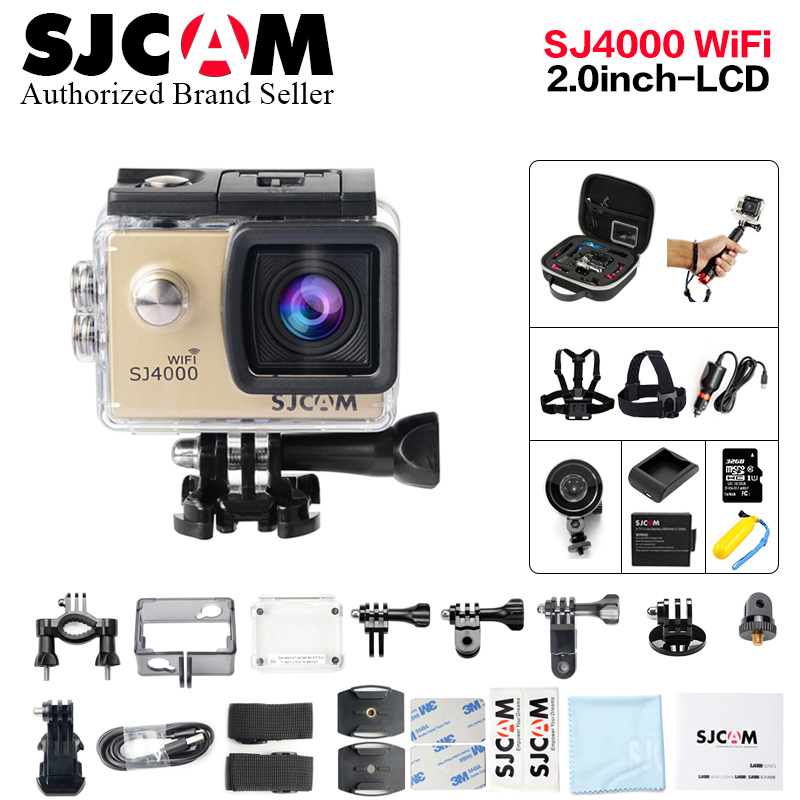 Cheap SJCAM SJ4000 2.0 WiFi Action Camera Sports DV Diving 30m Waterproof 2.0 inch LCD Screen Full HD 1080P Original SJ 4000 Cam