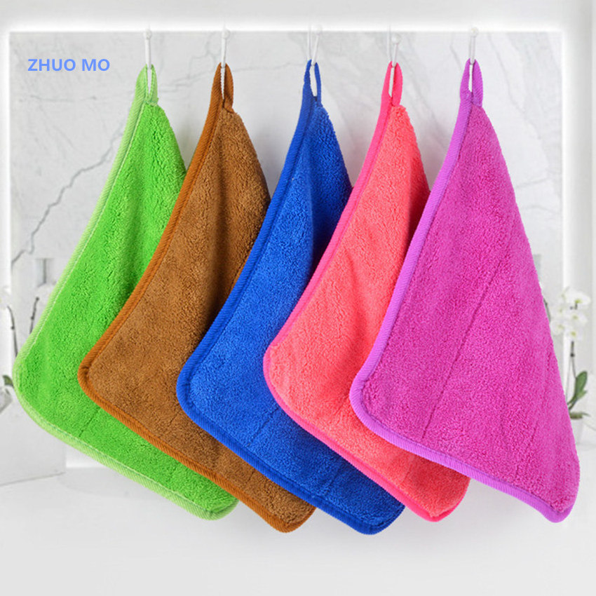 2PCS Car Wash Towel 30*40cm Car Cleaning Cloth Microfiber Double thickened hook Towel Car Care Wax Polishing Detailing Towels