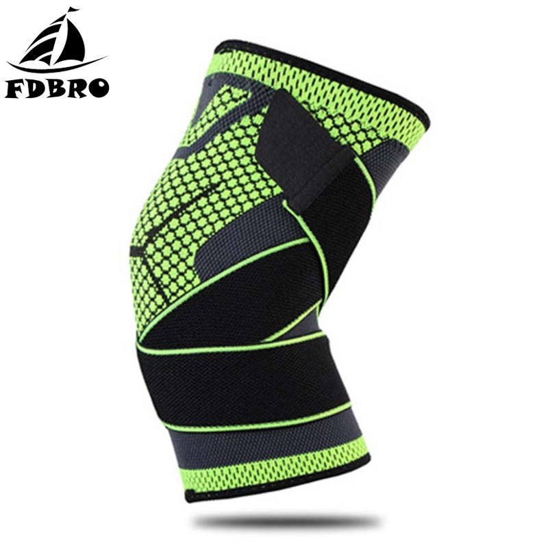FDBRO 1 Pcs Sports Safety Riding Training Fitness Knee Support Braces Protective Kneeling Breathable Compression Leg Sleeves