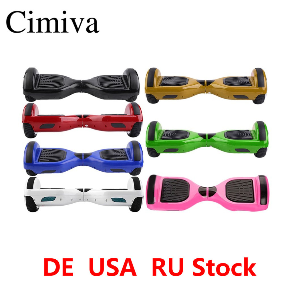 Cimiva 6.5 inch Electric Self Balancing Scooter Two Wheels Gyroscopic Hoverboard Smart Skateboard Free Shipping tax free hoverboard samsung battery smart self balancing electric scooter balance skateboard standing drift hoverboard