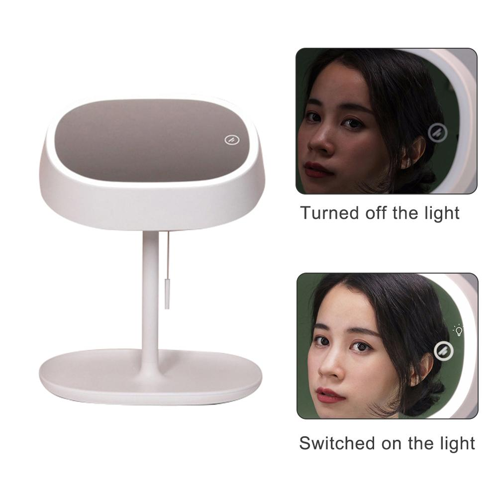 Multifuntional LED Makeup Mirror with Rope Portable Compact Desk Reading Lamp Fashion Make Up Tool 1Pcs 2019 NewMultifuntional LED Makeup Mirror with Rope Portable Compact Desk Reading Lamp Fashion Make Up Tool 1Pcs 2019 New