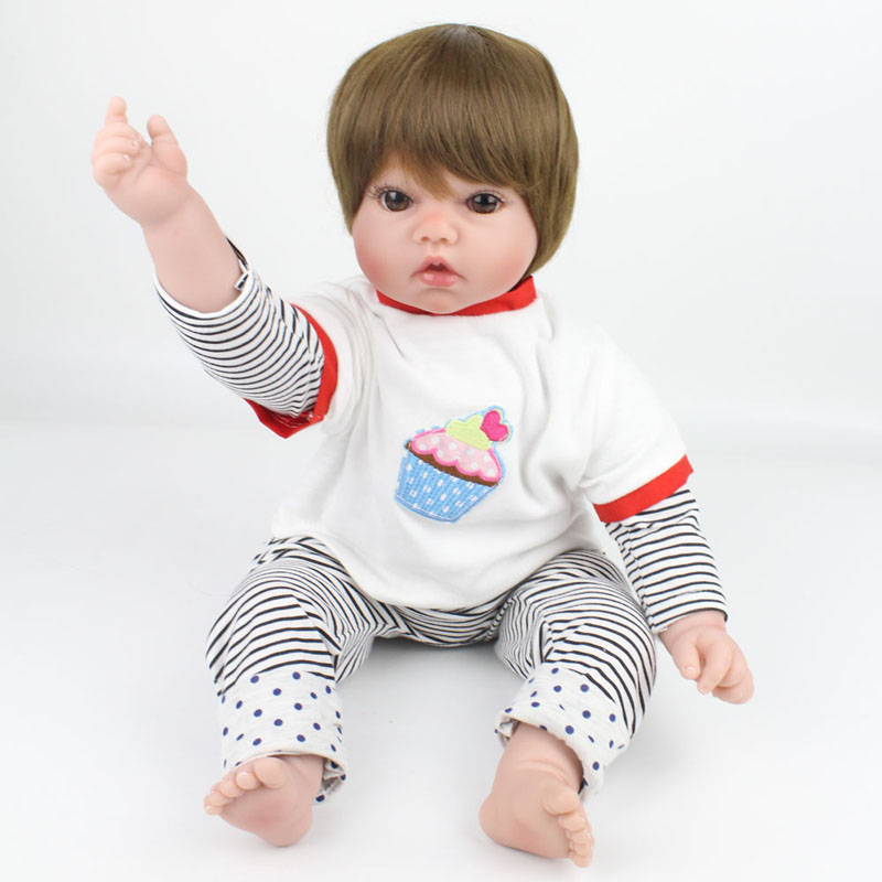 20 Inch Silicone Reborn Baby Dolls Soft Cloth Body Baby Fashion Doll Toys Kids Christmas Birthday Gifts Fashion Toys20 Inch Silicone Reborn Baby Dolls Soft Cloth Body Baby Fashion Doll Toys Kids Christmas Birthday Gifts Fashion Toys