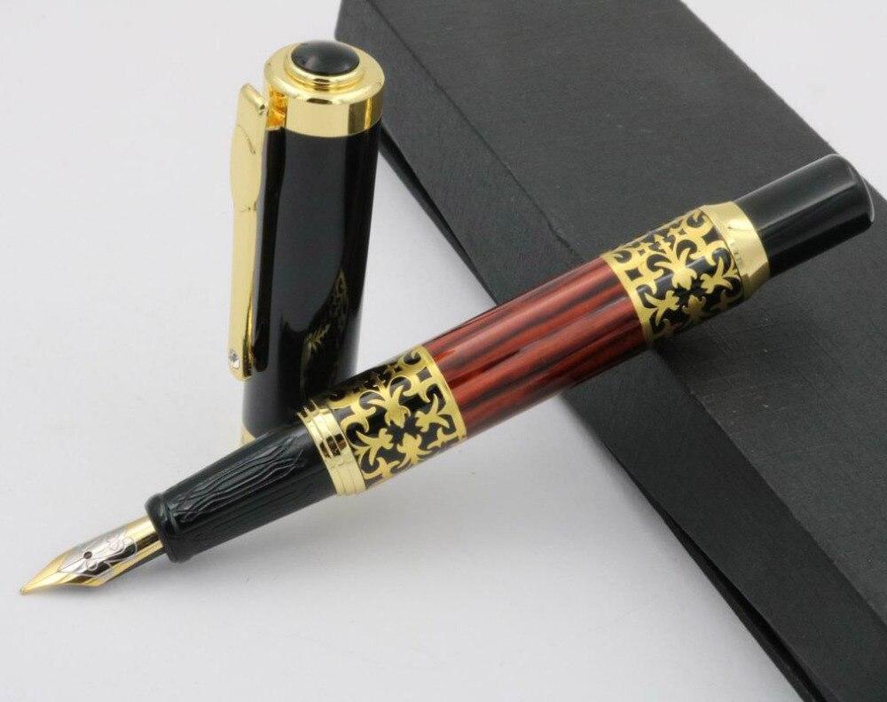 Penna del regalo rosso Con UFFICIO golden Trim Penna Del Metallo Penna StilograficaPenna del regalo rosso Con UFFICIO golden Trim Penna Del Metallo Penna Stilografica