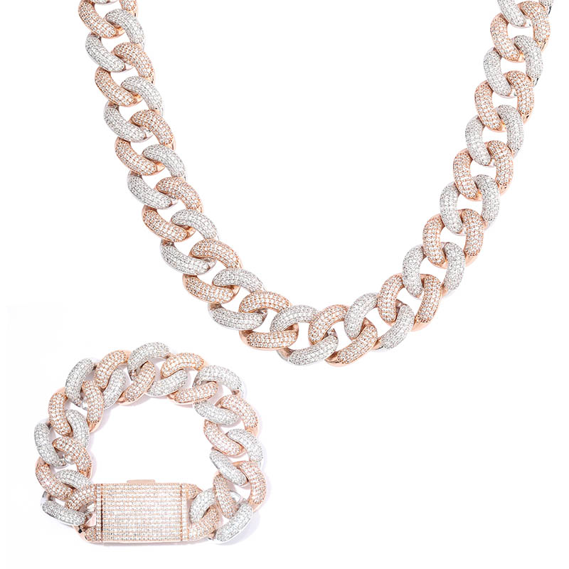 Image 5 - TOPGRILLZ 14mm 20mm Newest Box Clasp Micro Pave Iced CZ Cuban Link Necklaces Chains Luxury Bling  Jewelry Fashion Hiphop For Men-in Chain Necklaces from Jewelry & Accessories