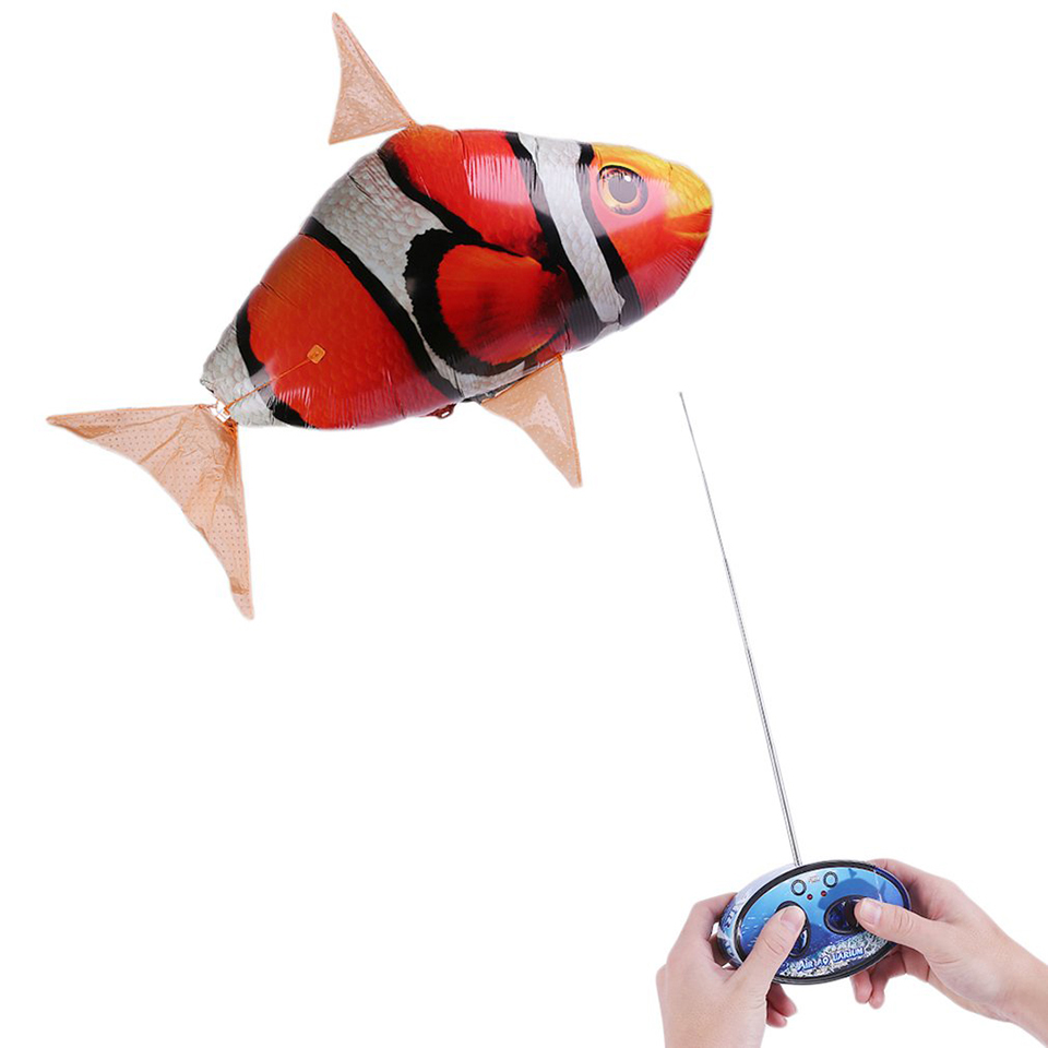 New inflatable balloon air swimmer flying nemo clown fish for Flying fish balloon