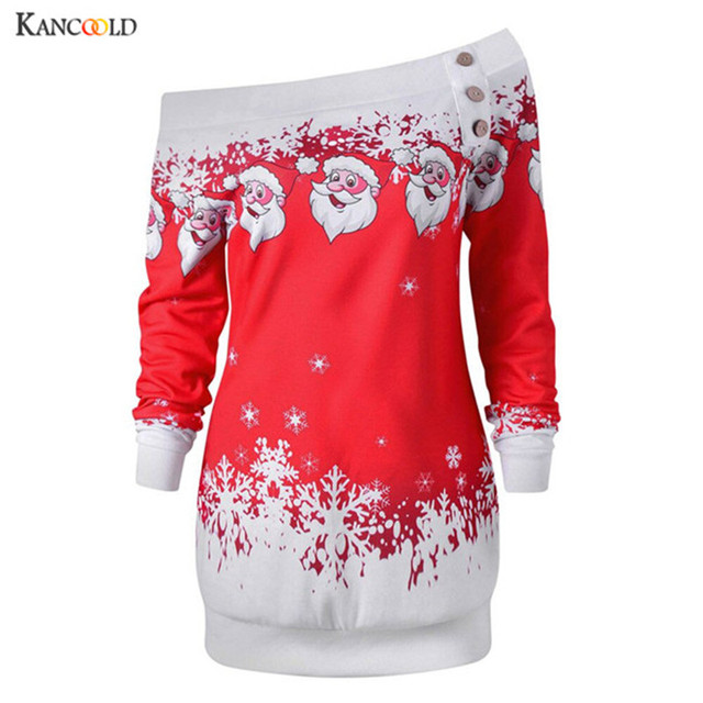 da16db8aefdb0 Sweatshirt Women 2018 Plus Size Merry Christmas Print Women Off Shoulder  Sweatshirt Pullover Oversize no Hooded Hoodies no15