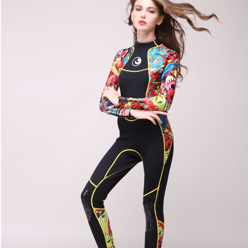 Long Sleeved and Warm Wetsuit 3mm Diving Suit Swimming Suit Neoprene Diving Suit