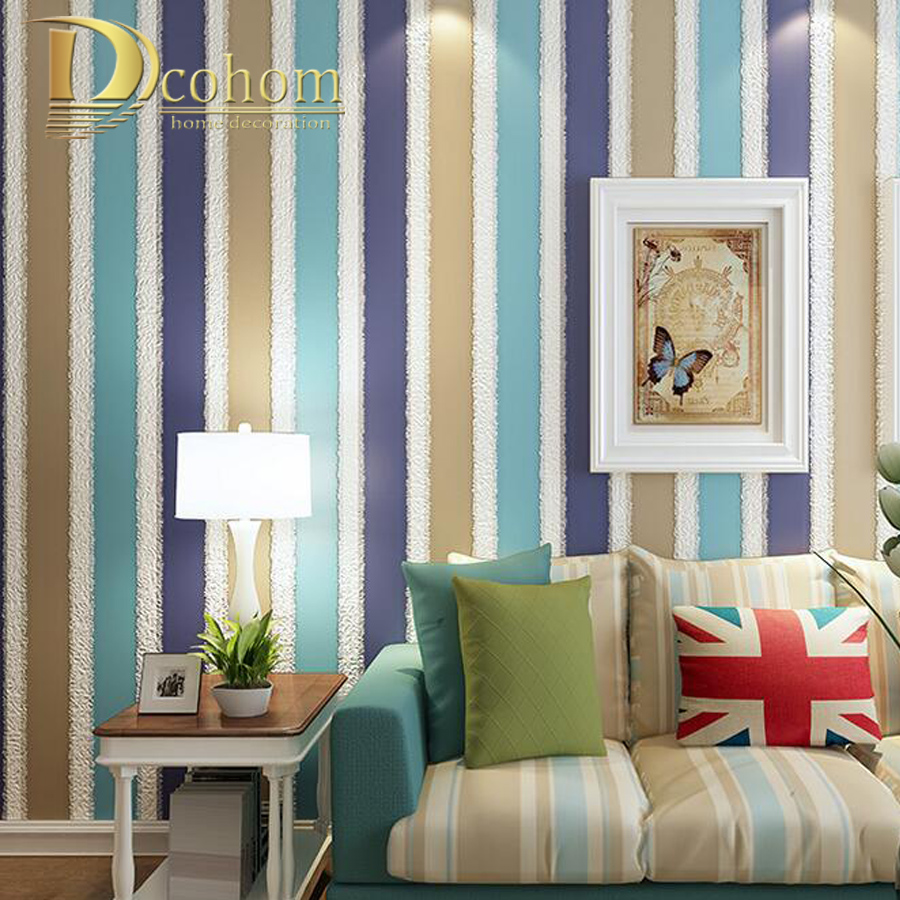 High Quality Modern Simple 3D Striped Wallpaper For Walls Embossed Art Home Wall paper Rolls For Living room Bedroom simple particle embossed plaid glitter flower wallpaper living room tv background modern wall covering floral wall paper rolls