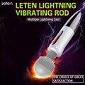 Leten Lightning Huge Head Powerful Vibration Massager 5 Modes Vibrations & 6 Modes Pulse USB Rechargeable Magic AV Wand Vibrator