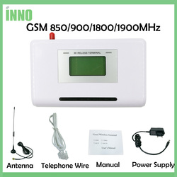 GSM 850/900/1800/1900MHZ terminal inalámbrico fijo con pantalla LCD, sistema de alarma de soporte, pavx, voz clara, señal estable