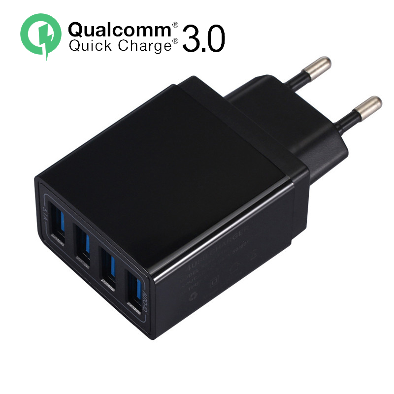 Wall-Charger Mobile-Phone-Adapter QC3.0 iPhone Xiaomi Samsung Usb Travel Huawei 4-Port