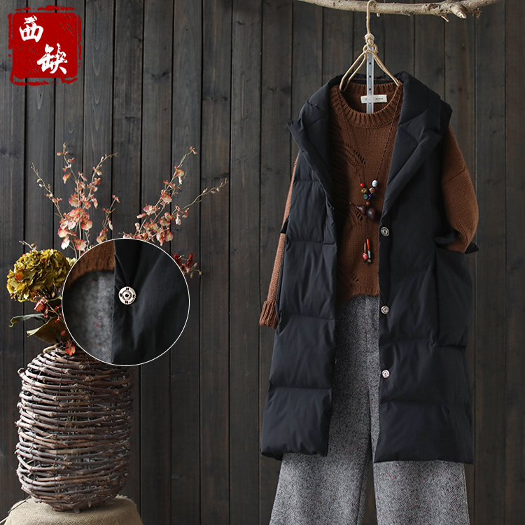 2018 new cotton and linen autumn and winter thick vintage hooded popular style women cot ...