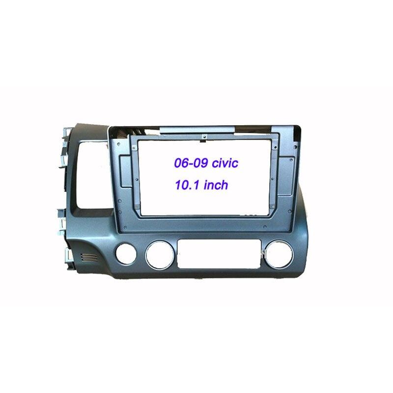 Kit de tableau de bord de voiture panneau Audio panneau de voiture pour H onda Civic 2006 2007 2008 2009 10.1 pouces