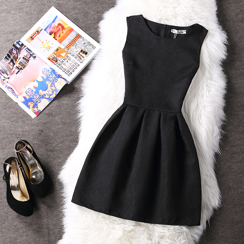 Free shipping 2018 Spring Autumn Print Dress Sleeveless Vest A all suits charming dress girl Belle Dress Vestidos Mujer D021