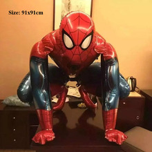 spiderman balloons birthday party decorations supplies inflatable helium foil superhero avengers balloons for modeling toys
