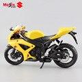 Escala 1:12 maisto marca niños mini Suzuki GSX R600 caliente de metal modelos diecast moto moto de carreras de juguete de aleación de coche para niños